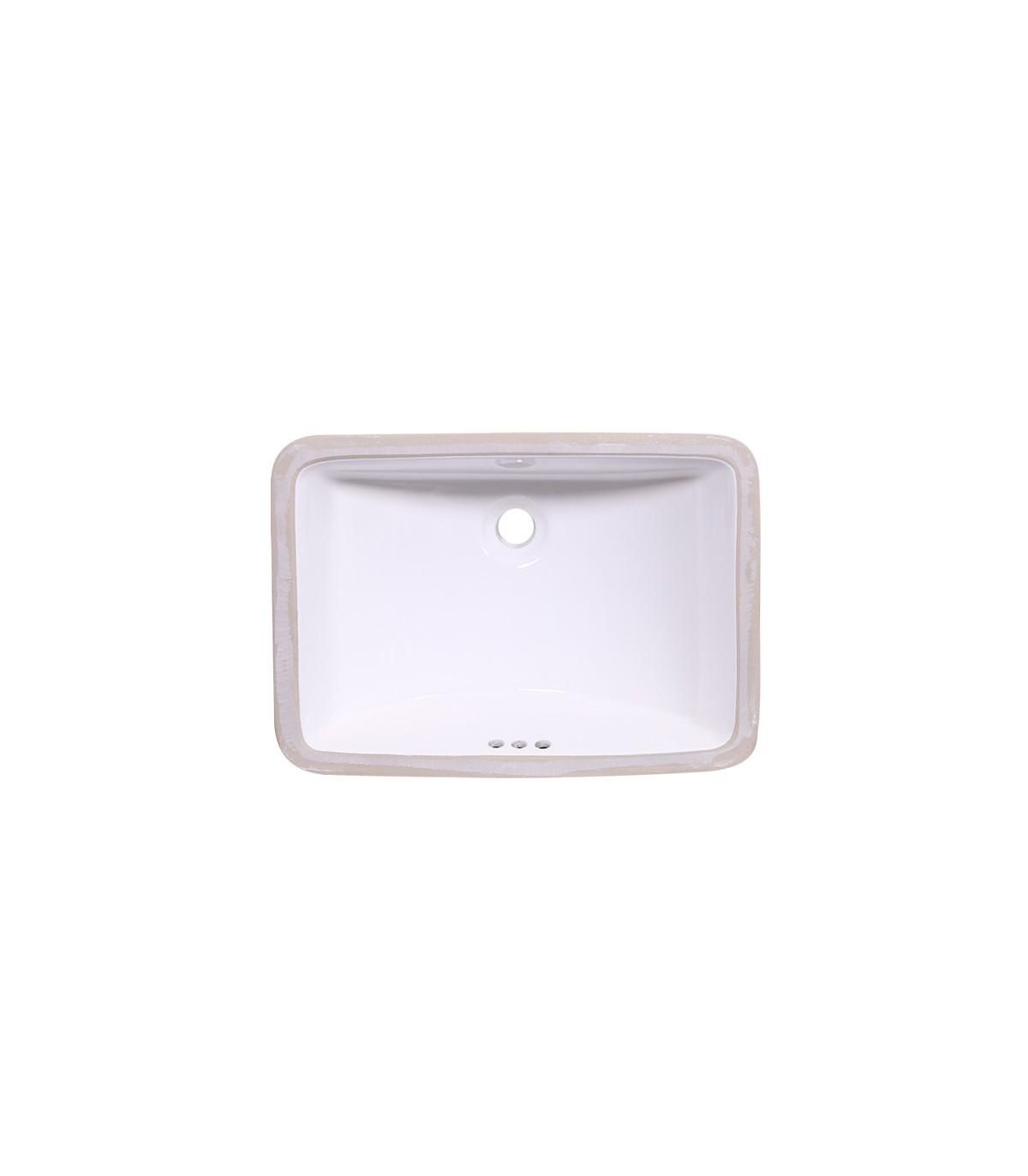 LS-C6 Undermount Rectangular Ceramic Sink White