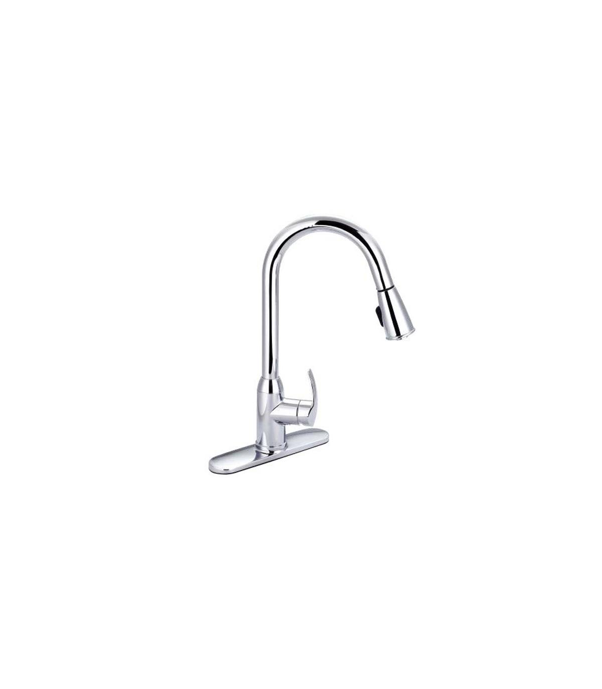 LS-KF4 Kitchen Faucet Chrome Brushed Nickel