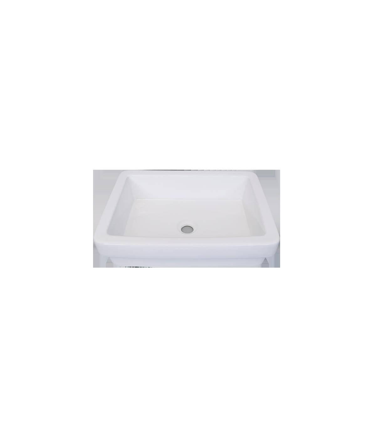 LS-C24 Above Counter Ceramic Sink White